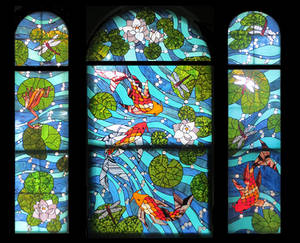 Koi Carp Bay Window