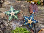 Midnight Star and Forest Star Christmas Ornaments