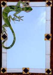 Lizard Mirror by Ellygator