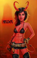 Hellgirl by JamesParce