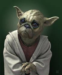 Pug Yoda by JamesParce