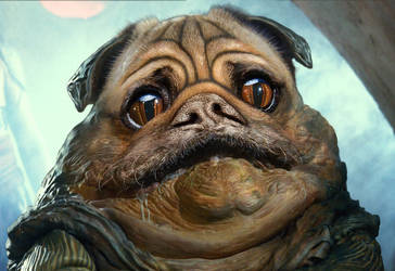 Jabba the Pug by JamesParce