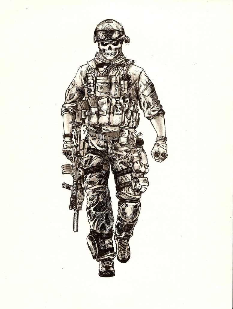 How to draw US.ARMY soldier