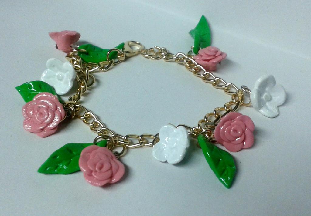 pink bracelet by baboolyn