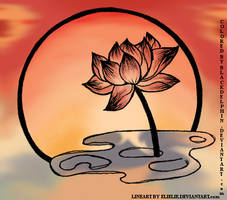 Sunset Lotus by BlackDelphin