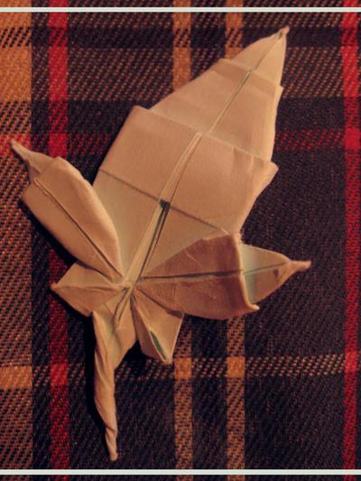Origami Maple Leaf by BlackDelphin on DeviantArt - photo#39