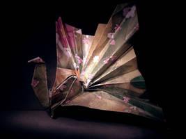 Origami Crane Lantern by BlackDelphin