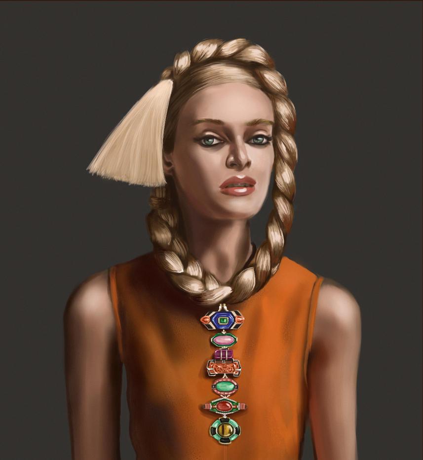 Portrait of a Woman by BlackDelphin