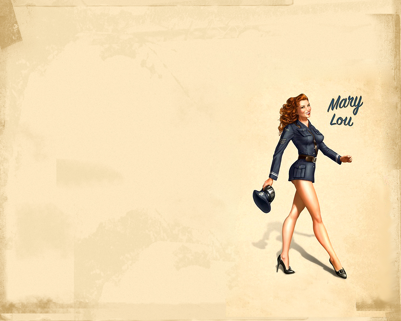 Pinup Wallpaper by camilojones