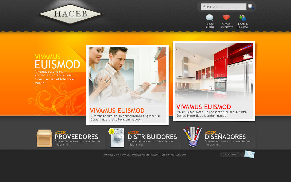 Web design for haceb home by camilojones on deviantart for Home plan websites