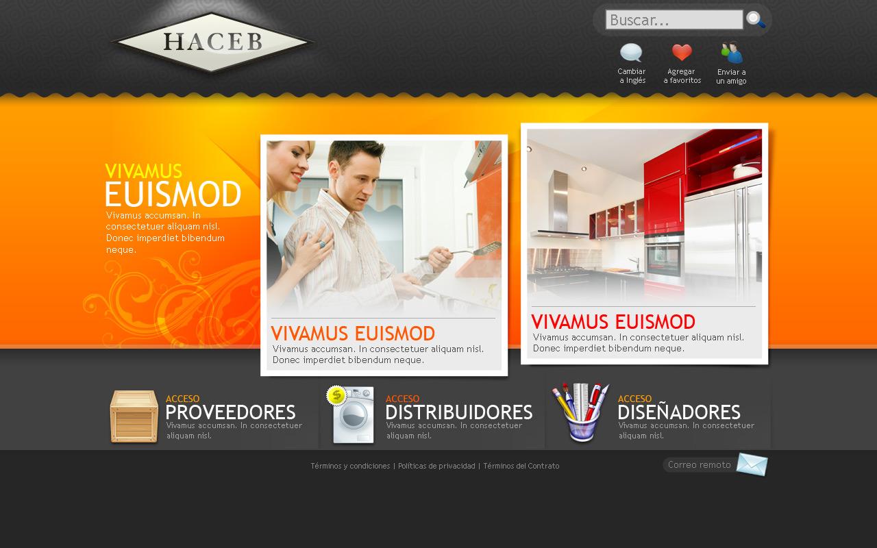Home Web Design.  Web design for Haceb home by camilojones on DeviantArt