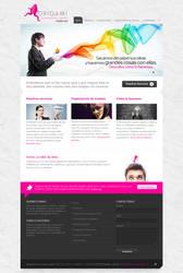 Web design for ORIGAMI COMUNIC by camilojones