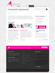 Web for ORIGAMI Int. by camilojones