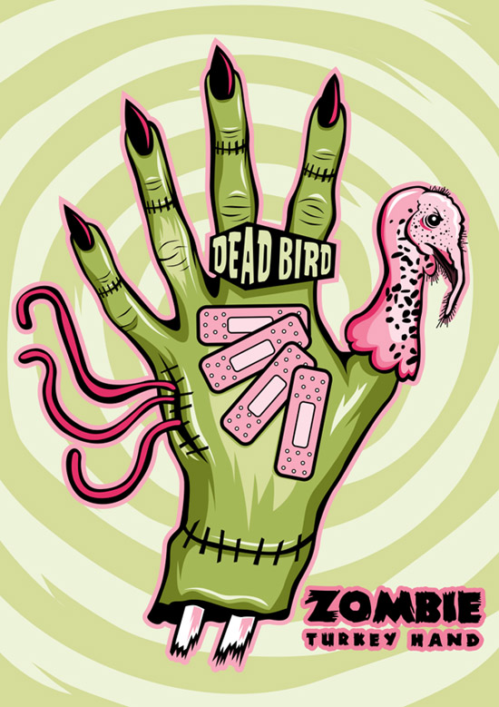 Zombie Turkey Hand by theyellowcoyote