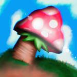 Mario mushroom realistic.