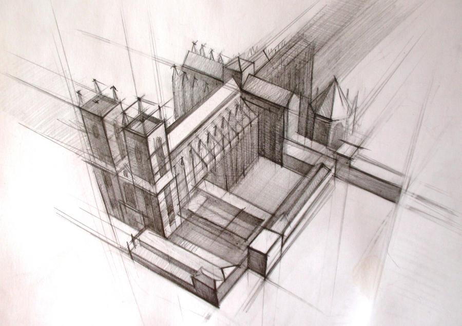 Architecture, Sketch By NastyaChernik ...
