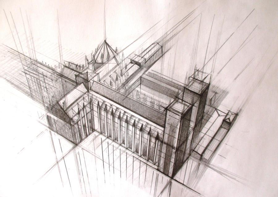 Architecture sketch 3 by nastyachernik on deviantart for Art architectural