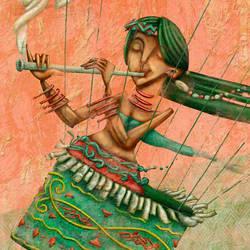 Ilustracion y diseno de portada para el libro Line by letramuda