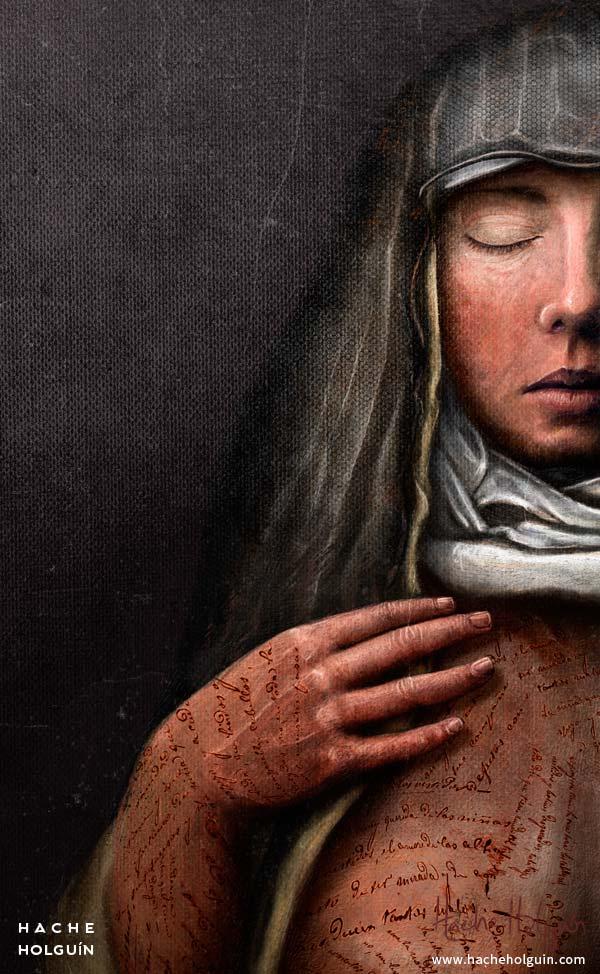 Ilustracion portada para libro Voto de tinieblas by letramuda