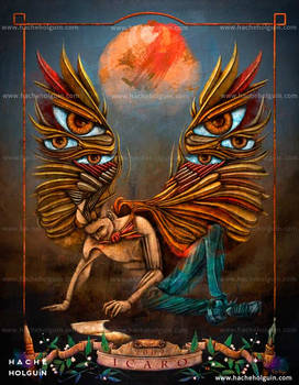 Ilustracion. Icarus: wings of creativity
