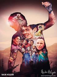 Ilustracion de poster para el corto Cham-pinon
