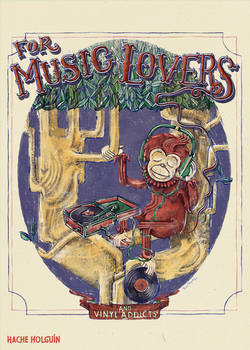 Poster illustration. For music lovers