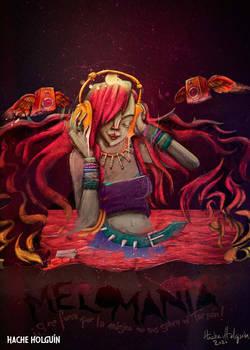 Melomania ilustracion por Hache Holguin