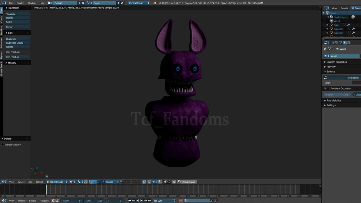 Monster Bat WIP by tcfFandoms