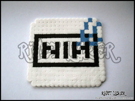 8-Bit NIN Logo Coaster