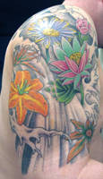 Outer Arm - Floral Half Sleeve