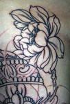 Lotus Tibetan Skull Tattoo