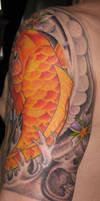 Lotus Buddha Koi Tattoo