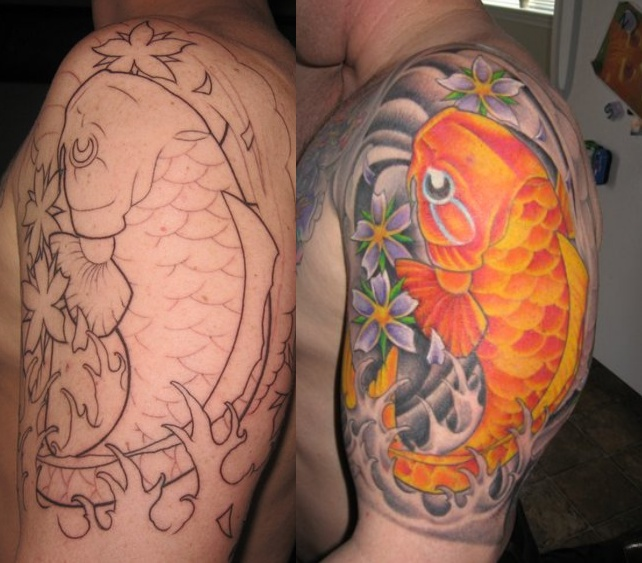 Hannya Mask Tattoo, Japanese Flower Tattoo, Japanese Koi Fish Tattoos,