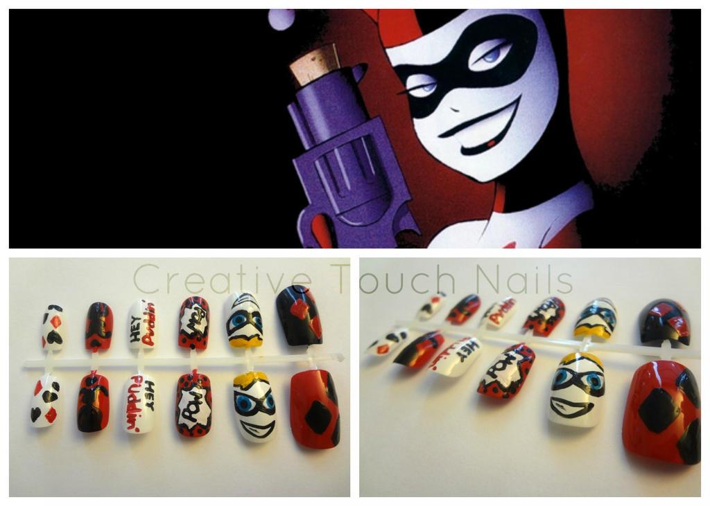 Harley Quinn Nail Art Set By Creativetouchnails On Deviantart