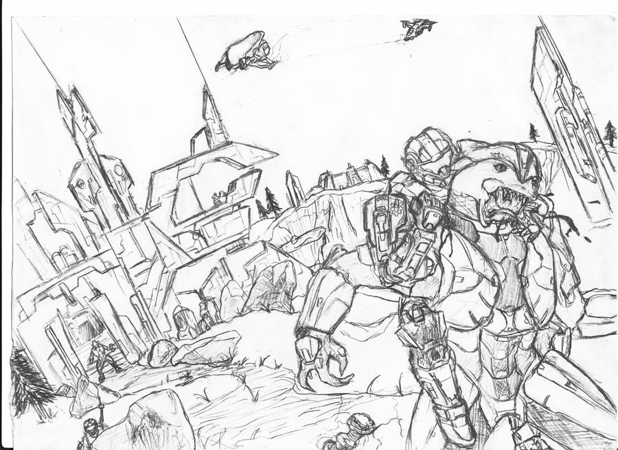 Halo Reach Assassin by ezra96 on DeviantArt