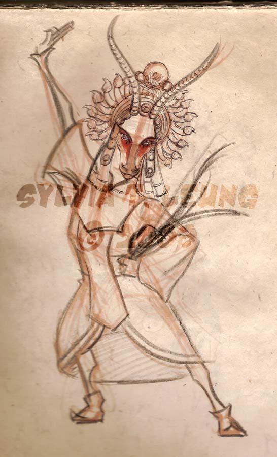 Antelope Chinese Opera by SylviaDraws