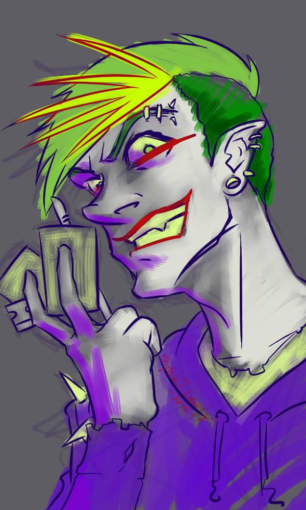 Joker Sketch by SylviaDraws