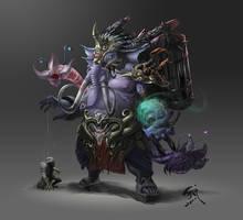 The elephant sorcerer by phoeni-x-man