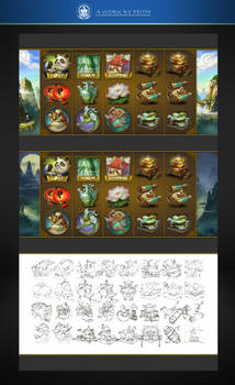 SLOTS Game icons of a China theme