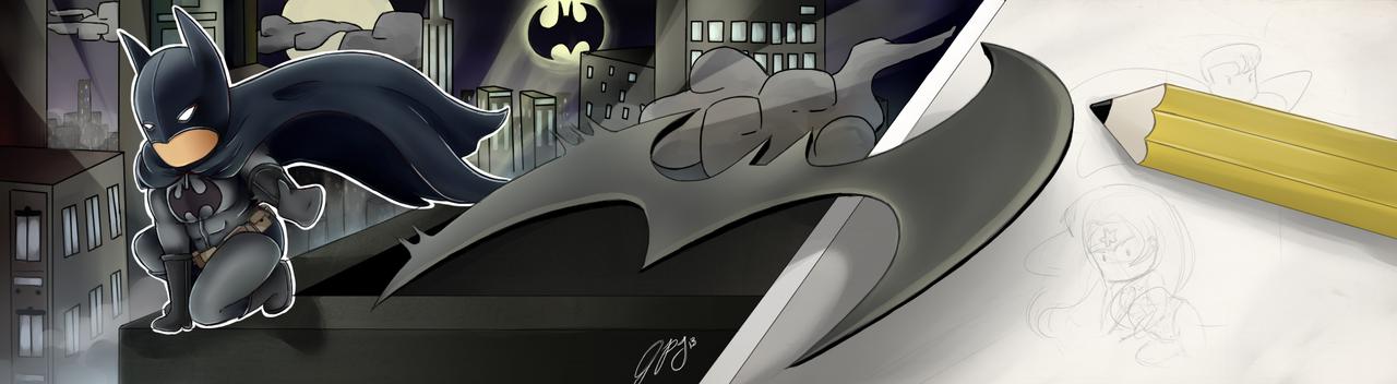 Scribblenauts Unmasked- Batman by KawaiiLilCupcake