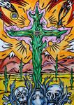 Burning cactus