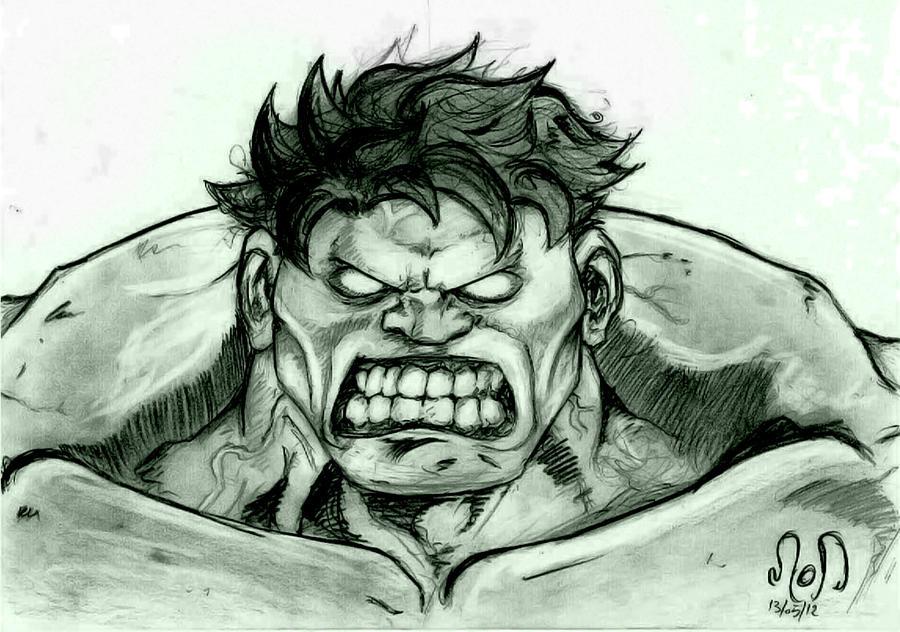 Hulk Face Line Drawing : Hulk s sweet face by spiritmod on deviantart