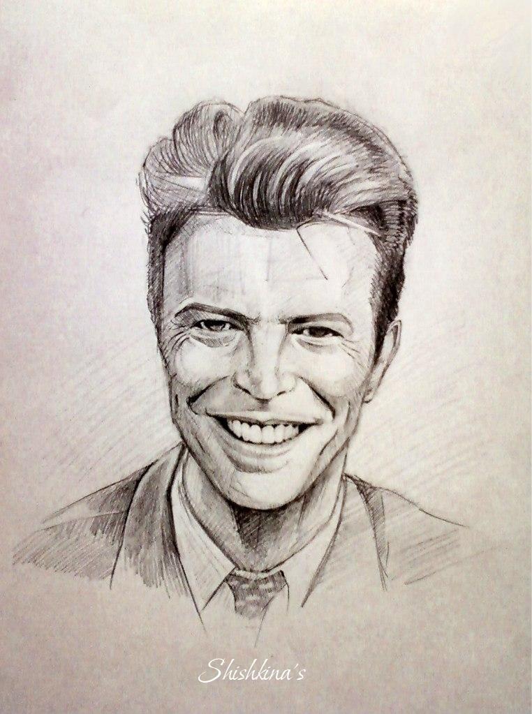 David Bowie's smile by Shishkina