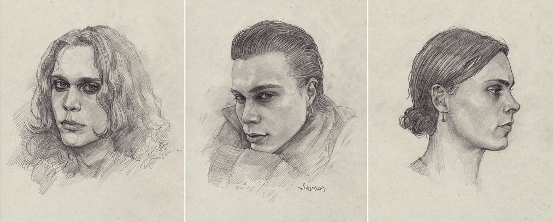 Ville Valo sketches by Shishkina