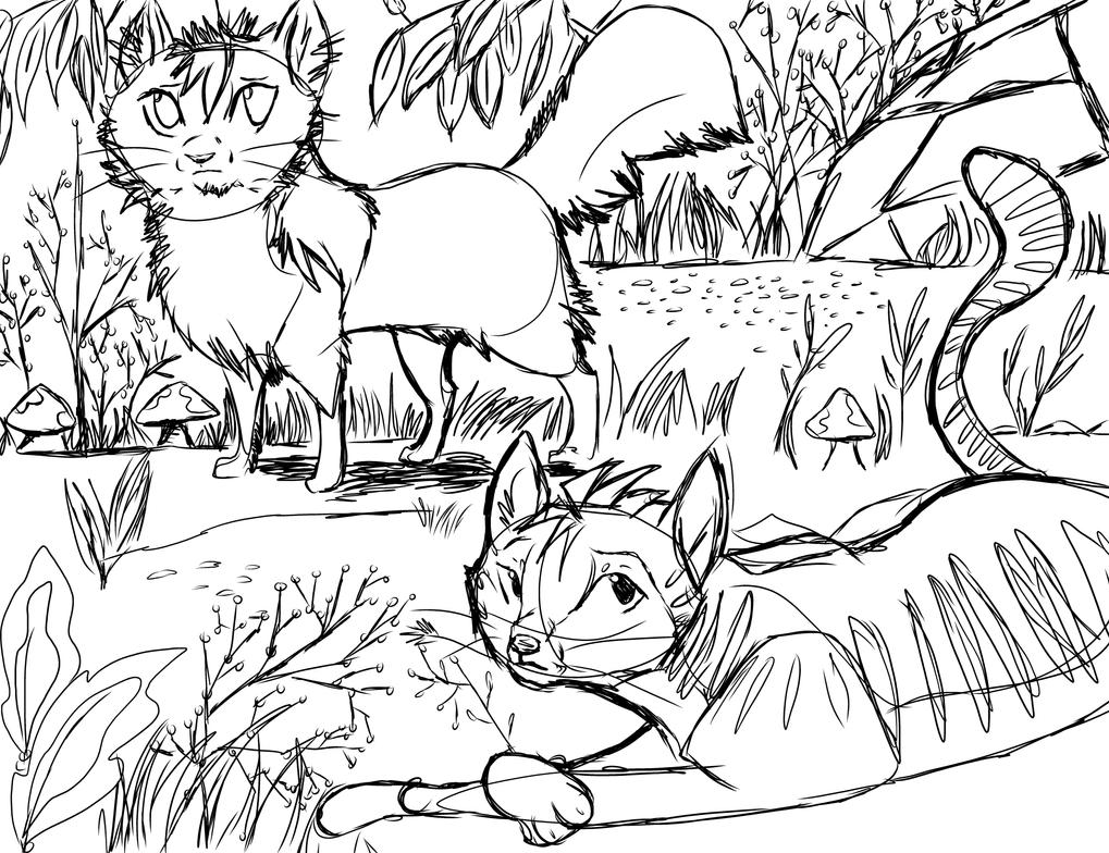 jayfeather and lionblaze by Pawnee
