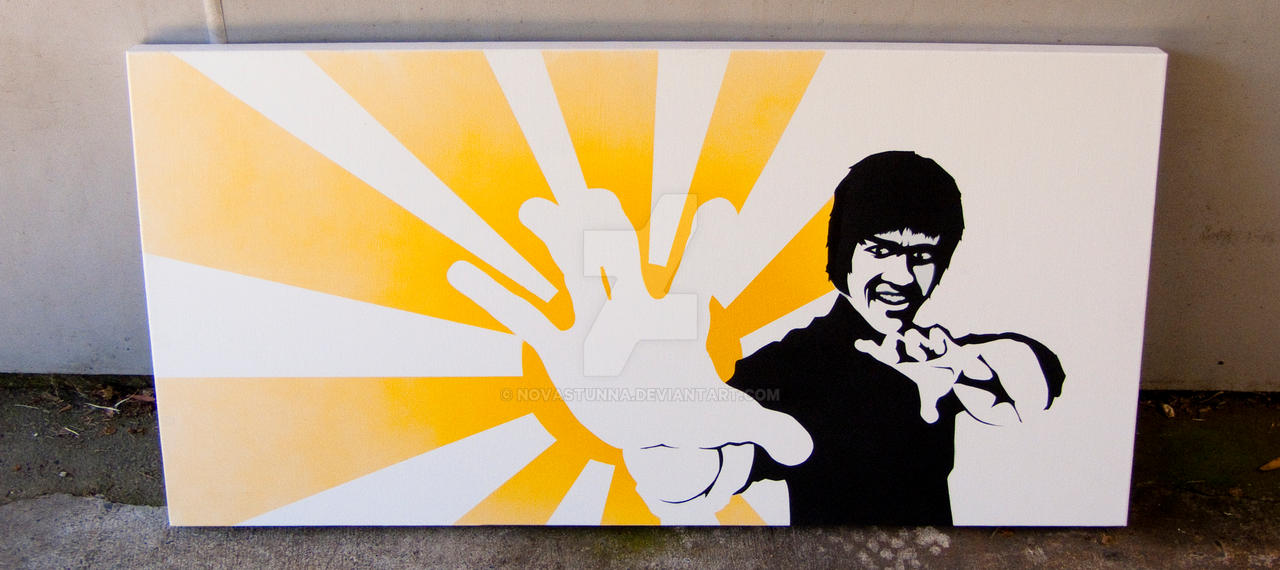 Bruce Lee Canvas Painting