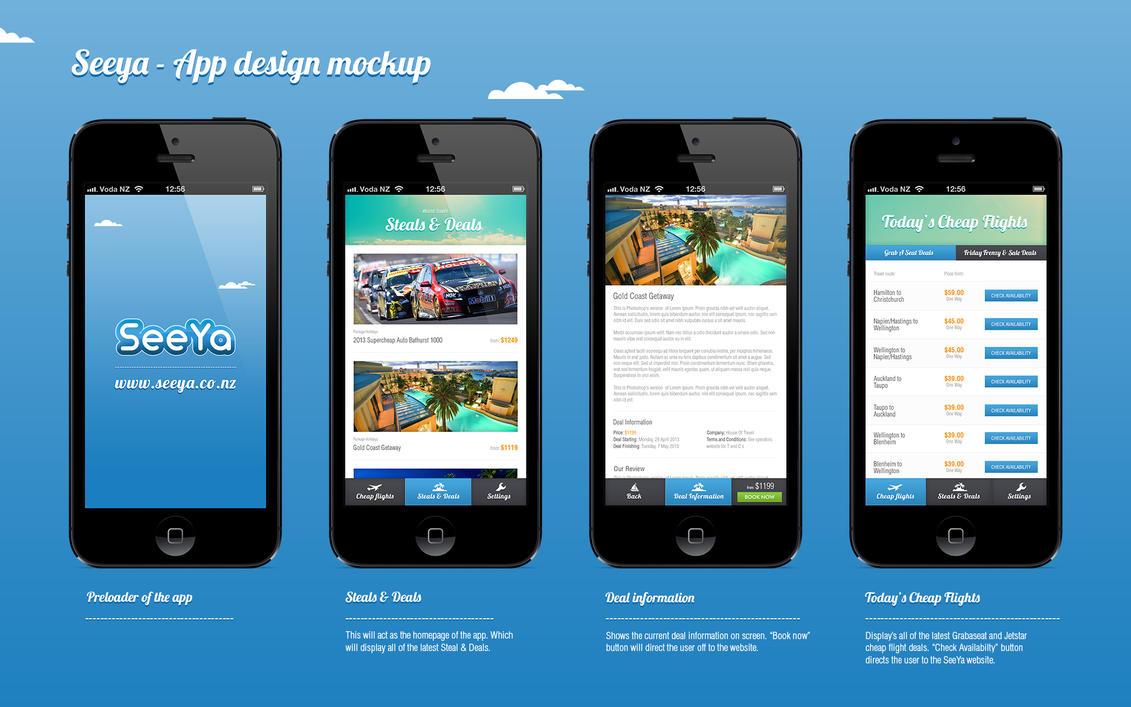 App Design Mock Up By Novastunna On Deviantart