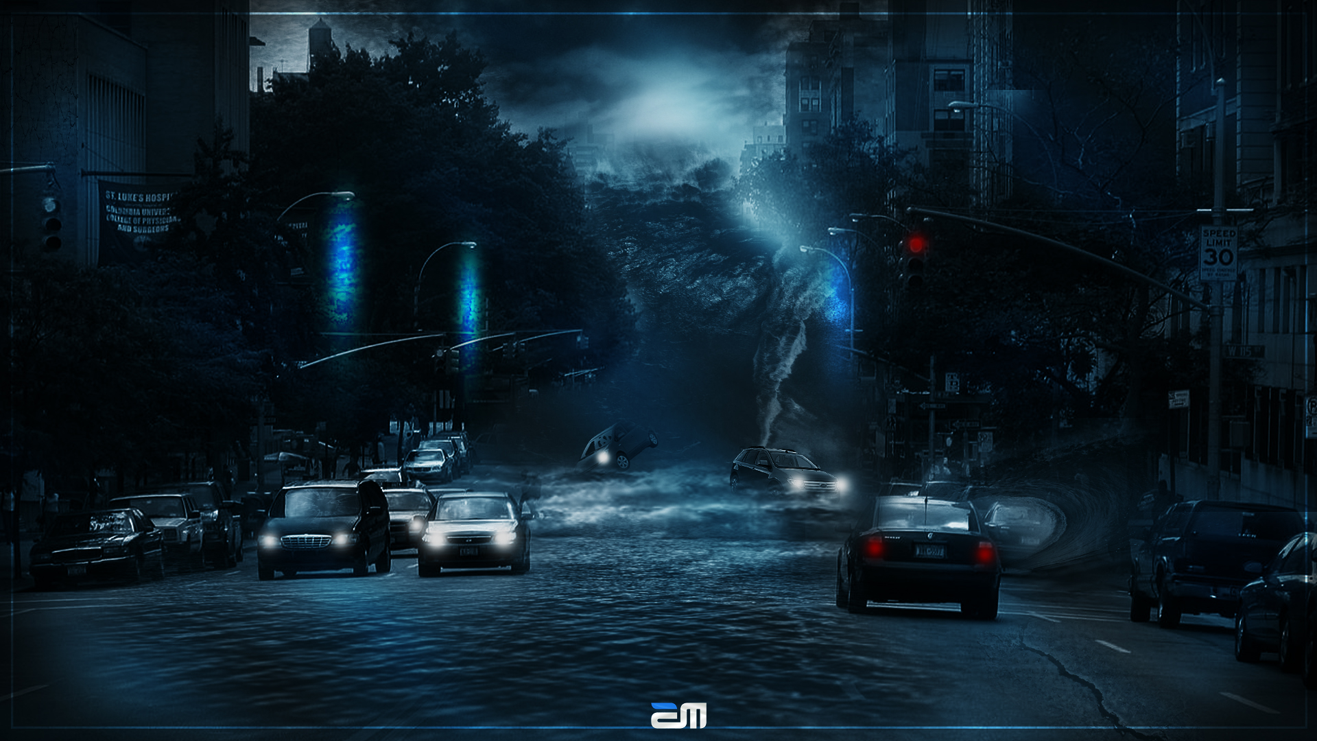 New York Tsunami photomanipulation by emartworks