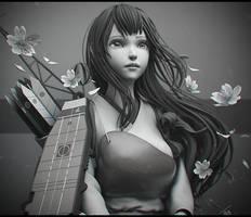 Akagi Kancolle Fanart by Graxious