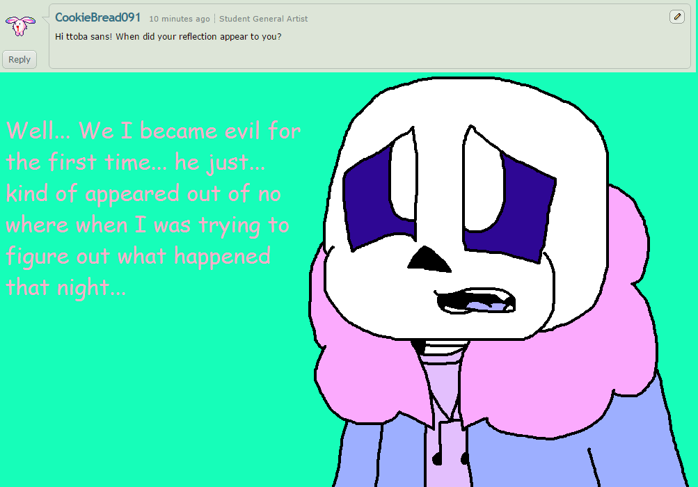 Ask ttoba Sans or Reflection #4 by cjc728